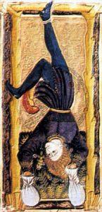 Carta l'impiccato nei tarocchi